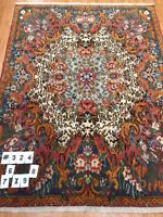 """7'6"""" x 9'8"""" Indian Oriental Rug - Hand Made - Very Fine"""