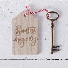 SANTAS MAGIC KEY - Rustic Wooden Christmas Eve Box Kit Vintage Look