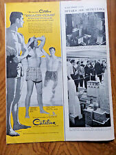 1956 Catalina Swim Suit Ad  Beach-Com Swimwear The Man Wears