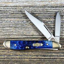 1999 Case XX Select Peanut Jack Knife - Blue Bone Handles - CS6220 - Box & Paper