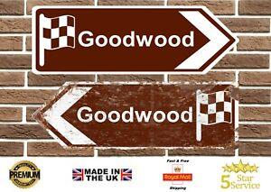 Goodwood Motor Circuit Metal Road Sign Vintage Retro Garage Sign Man Cave