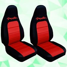 Fits 2001-2006 Mazda Miata  front set car seat covers  black-red with design