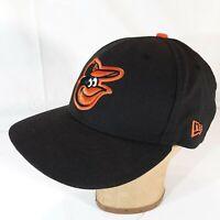 Baltimore Orioles New Era Team Color 9FIFTY Snapback Hat - Black Orange Med-L
