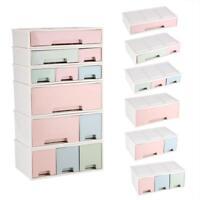1/2/3-Drawer Cosmetic Desktop Storage Box Jewelry Organizer Container Desk Decor