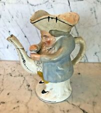 Unusual Antique Staffordshire snuff taker tea pot/ toby jug with spout