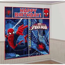SPIDERMAN BIRTHDAY PARTY SUPPLIES SCENE SETTER WALL POSTER DECORATIONS