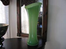 Vtg Fenton Depression Glass Jadeite Jadite Large Tall Vase -Absolutely Wonderful