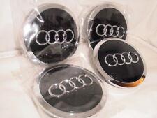 4 x Audi Schwarz Nabendeckel  Felgendeckel 69mm für A3 A4 A6 A8 4B0601170A
