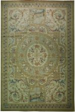12 x 18 Ivory French Aubusson Savoonnerie Handmade Rug Pre-Owned Fine Quality