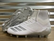 Adidas Adizero 5-Star 7.0 Mid Lacrosse Football Cleats White Gray SZ ( AC8230 )