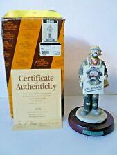 1996 FLAMBRO Signed EMMETT KELLY JR Limited Ed Porcelain Figurine- NOW APPEARING