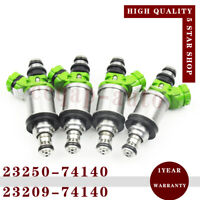 4x Denso 23250-74140 Fuel Injector Nozzle for Camry Celica 2.2L RAV4 1.8 2.0 2.2