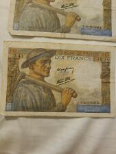 Dix Francs 10 - 1942 Set Of 3
