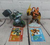 Skylanders Giants Crusher & Swarm Figure Lot Wii U Switch PS4 Xbox 1