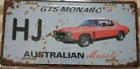 HOLDEN HJ GTS MONARO Metal Signs Australian Muscle Cars MAN CAVE SHED BAR
