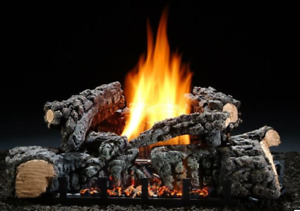 """Vent-Free Gas Log Hargrove 22"""" Highland Glow with Real Fyre Remote Control"""