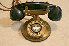 Art Deco Telephone Automatic Electric Monophone Brass Phone Old Antique