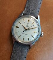 Tudor Oyster small rose + arrow head hour dial watch by Rolex vintage sports