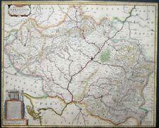 MERCATOR HONDIUS SPANIEN NOVISSIMA ARRAGONIAE ARAGON ARAGONIEN WAPPEN 1633