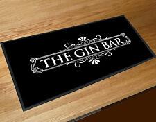 The Gin Bar B&W label party bar runner mat Cocktail bars & Pubs
