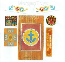 FISHER-PRICE HAPPY HOUSEBOAT #985 REPLACEMENT LITHOS STICKERS Little People