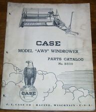 Case Model AW9 Windrower Parts Catalog B509