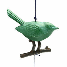 Japanese Furin Wind Chime Cast Iron Iwachu Songbird with Branch, Made in Japan