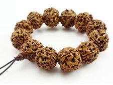 "Huge Stretchy Tibetan 12 20mm Rudraksha Bodhi Seed Prayer Beads Mala Bracelet 7"""