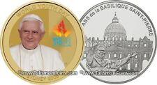 Australia 2008 + France 2006 Pope Benedict XVI Two Coin Set 1.5 Euro Silver