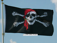 3'X 5' JOLLY ROGER RED CAP PIRATE FLAG 3X5