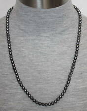 """eli k Sterling Silver 6mm Glass Base Gray Pearl 24"""" Necklace"""