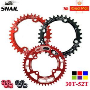 UK STOCK 104BCD 30T-52T Narrow Wide Bike MTB Chainring Single Tooth Chain Ring