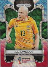 2018 Panini FIFA World Cup Blue Red Wave Prizm (272) Aaron MOOY Australia
