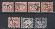 Eritrea J1//J9 CTO 1903 Postage Due Issue 7 Stamps SCV $455