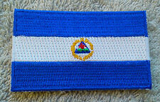 NICARAGUA FLAG PATCH Embroidered Badge Iron Sew on 4.5cm x 6cm Central America