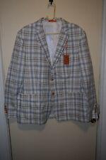 Tallia Orange Men's Modern-Fit Gray/Cream Plaid Sport Coat