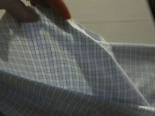 "Shirting Poly blend Fabric pale blue check 60""W x 3 2/3 yds Long Lt wt  new #169"
