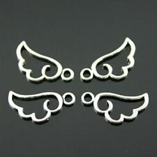 10 Angel wing silver Hollow Wingsl Charm For Jewelry Making Jewelry Accessories