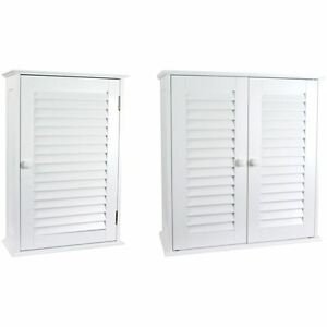 Liano Cabinet Single Double Shutter Door Wall Mounted White Vanity Bathroom