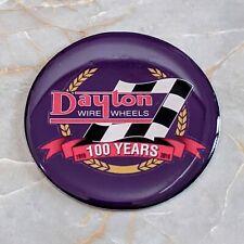 Purple Dayton Anniversary Wire Wheel Chips Emblems Decals Set Of 4 Size 225in