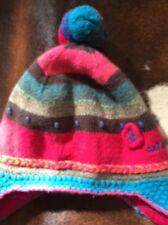 Pre-owned CATIMINI Angora Blend Toddler Multicolor Ski Hat Pom Pom Detail SZ T3