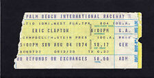 1974 Eric Clapton concert ticket stub Palm Beach Raceway FL 461 Ocean Boulevard