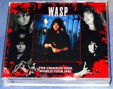 W.A.S.P. WASP-The Crimson Idol World Tour Live 4 CD 1992 Kiss Motley Crue Saxon