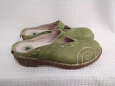 EL Natura lista Lime Green Leather Yggdrasil  Slip On Shoes Frog Shock Womens 9