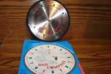 Genuine KIKKERLAND Metal Bar Compass #16 Different Cocktail Recipes * NEW