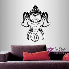 Vinyl Decal Indian Elephant Animal Head Yoga Meditation Buddha Wall  Sticker 152