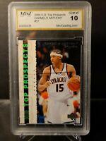2003-04 UD Top Prospects Carmelo Anthony Rookie #57 MINT  GEM MINT 10 PSA /SGC