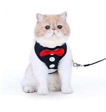 Cat Harnesses Pet Safety Control Set Cute Bowtie Leash Collar Dress Part Dog