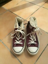 Worn once. Converse all star hi top maroon size 5. 38.