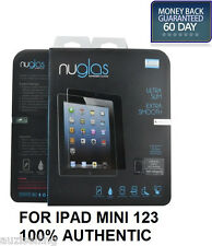 GENUINE NUGLAS Premium Tempered Glass Screen Protector For Apple iPad Mini 1 2 3